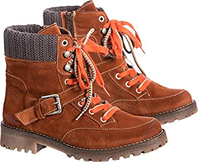 Women's Bos & Co Colony Waterproof Suede Boots, RUST/GREY, Size EU42