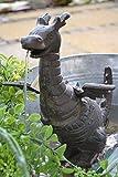 Wasserspeier Drache - lustiger stabiler Wasserspeier mit Pumpe für den Teich, Gusseisen, schwere Ausführung, Höhe 25 cm, Breite 22 cm, Tiefe 11 cm