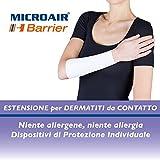 Microair Barrier - Extensiones de protección del antebrazo hombre talla ii, circunferencia máxima de 35 cm, Color- Blanco