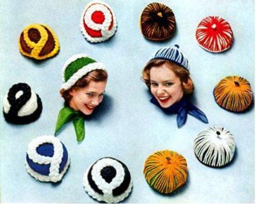 5 Patrones de sombrero ganchillo por Unknown