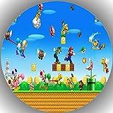 Premium Esspapier Tortenaufleger Geburtstag Super Mario T24