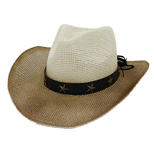Western Papier Masken - YUXINXIN Frauen Männer Western Cowboyhut Frauen