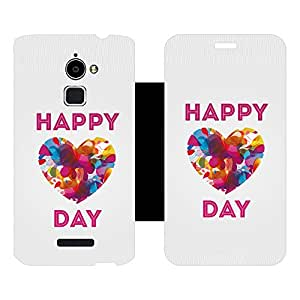Skintice Designer Flip Cover with Vinyl wrap-around for Coolpad Note 3 Lite, Design - Colourful Heart
