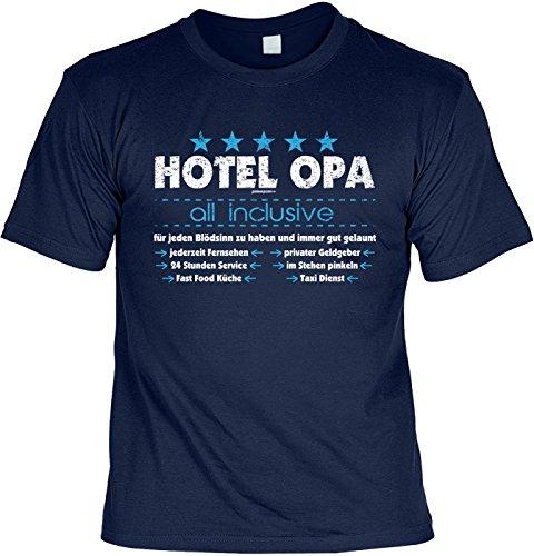 Sprüche T-Shirt Opa - cooles für Großvater : Hotel Opa all inclusive -- Geschenk Vatertag Geburtstag Opa Farbe: navyblau Navyblau