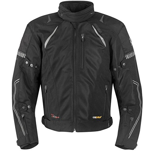 Mesh-motorrad-jacke (Germot X-Air Mesh Blouson Motorrad Jacke Leicht Sommer Hochwertig Stretch Taschen Protektoren, 42220, Farbe Schwarz, Größe 3XL)
