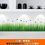 SMNCNL Wand - Blume Garten Zaun Linie selbst Fußleisten Kleber Aufkleber Schmetterling Hintergrundbild Dekorationen, grünes Gras