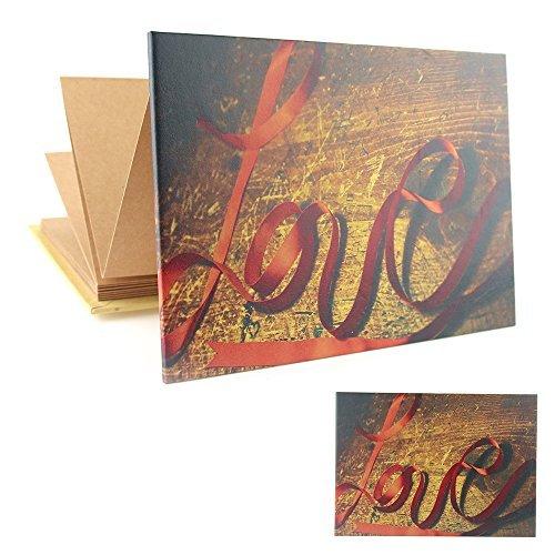 Album Photo, Style Accordéon Album de Scrapbooking Vintage, Livre Photo de Mémoire pour Bébé Pages Beige, Livre de Croquis/Livre D'or, Cadeau pour Fête des Mères Anniversaire Naissance Mariage, pour Maman Femme Homme, Amour
