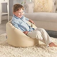 Preisvergleich für Meine Erster Sitzsack – Kunstleder Kindersitzsack - Sitzsack für Kleinkinder (Sahne)