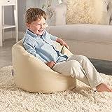 Meine Erster Sitzsack – Kunstleder Kindersitzsack – Farbe Crème- Sitzsack für Kleinkinder