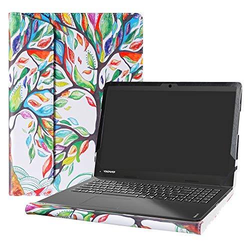 Alapmk Diseñado Especialmente La Funda Protectora de Cuero de PU para 15.6' Lenovo IdeaPad 110 15 110-15IBR 110-15ACL 110-15ISK & IdeaPad 100 15 100-15IBD Ordenador portátil,Love Tree