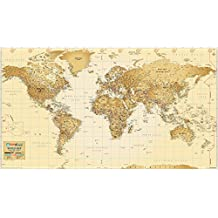 World Map - Antique [Printed in Vinyl]
