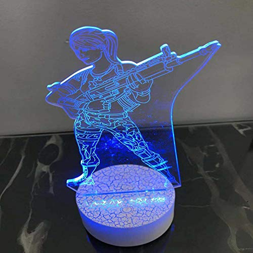 Hot 3D Night Lights Characters Air Force Colorful Table Lamps Creative Gift Lights -