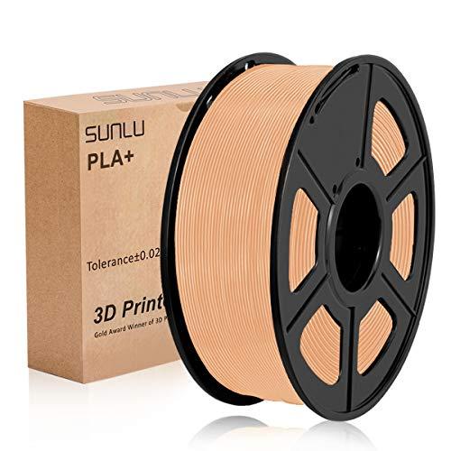SUNLU PLA Plus Skin, filamento PLA Plus 1,75 mm, Precisione dimensionale con odore basso +/- 0,02 mm, Filamento per stampa 3D, bobina 2,2 LBS (1 KG) per stampanti 3D e penne 3D, Pelle