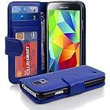 Samsung Galaxy S5 Hülle in BLAU von Cadorabo - Handy-Hülle mit 3 Kartenfächer Case Cover Schutz-hülle Etui Tasche Book Klapp Style in KÖNIGS-BLAU