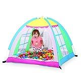 LIAN Bambini giocano Tenda Baby Indoor Game House Ocean Ball Pool Fold Castello antivento Mosquito (Green 49.2 * 49.2 * 41.3 pollici Packing of 1)