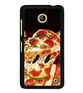 PrintVisa Pizza Aha High Gloss Designer Back Case Cover for Microsoft Lumia 630 :: Nokia Lumia 630