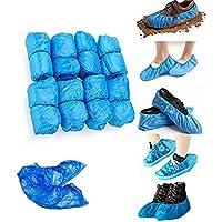 Fundas desechables para zapatos, 50 pares, color azul, talla única, antideslizante e impermeable, 3 g de grosor, 100 unidades …