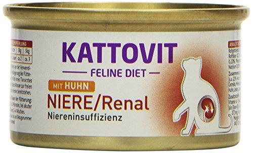 Kattovit Katzenfutter Low Protein Huhn 85 g, 24er Pack (24 x 85 g) (Huhn Protein)