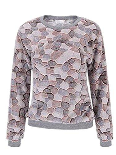 Haililais Sweatshirt Bedrucken Damen Pullover Pullis Shirt Langarm Löcher Crewneck Langarmshirt Sweater Oberteile Sweat Pullover Frauen Warm College (Crewneck Sweatshirt College-frauen)