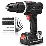 Cordless Drill Driver Set with Hammer Function AREWTEC 20V 2.0Ah Lithium-Ion 45NM