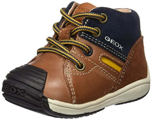 Geox Baby Jungen B Toledo Boy A Sneaker, Braun (Brandy/Navy), 22 EU