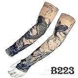 tzxdbh Tatuaggio Manica del Ghiaccio Estate Protezione Solare di Alta qualità Vera Seta del Ghiaccio Ombra Manica Tatuaggio B223 Circonferenza Braccio Dritto 17-50 cm Disponibile