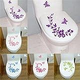 Lytshop Leben teilen Badezimmer Dekorative Aufkleber Schmetterling Blume Reben Wandaufkleber Abziehbild