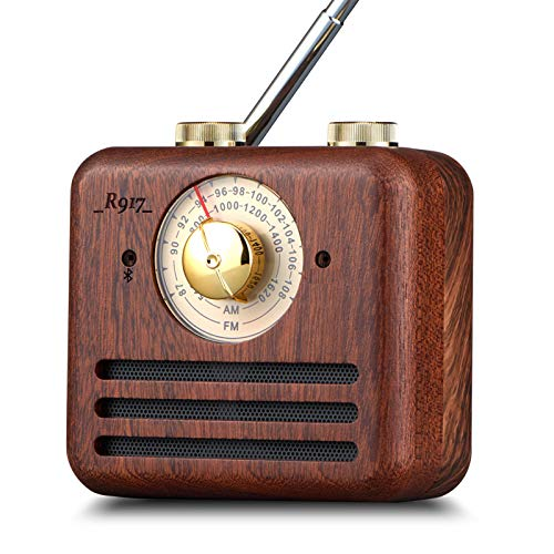 Buy PAGARIA Portable Retro Vintage AM/FM Radio with Bluetooth & Walnut Wood Speaker online in India at discounted price