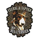 Wetterfester Aufkleber Bullterrier 13cm oder 40cm Dogs Hund Dog Geschnek
