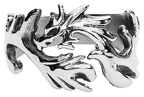 etNox hard and heavy Dragon Anello standard L