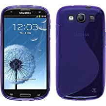 Funda de silicona para Samsung Galaxy S3 Neo - S-Style púrpura - Cover PhoneNatic Cubierta + protector de pantalla