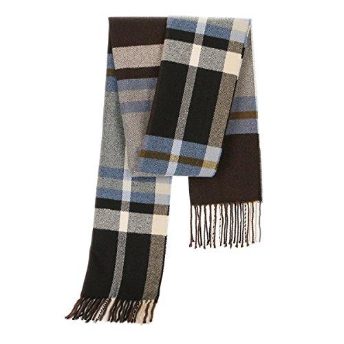 Männer Classic Cashmere Plaid Schals Winter Warm Lange Fransen Schals Tassel Schal Student Junge Männer Kragen Einfache Kopfschmuck,A-180 * 30cm -