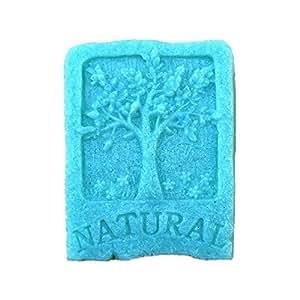 Allforhome Moule à savon en silicone Motif arbre et inscription NATURAL …