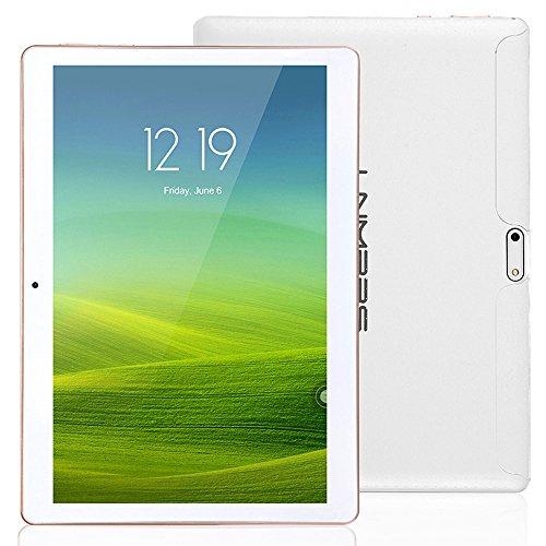 Lnmbbs 3g/wifi tablet 10 pollici (10.1''), con funzione telefono, quad core (1.3ghz), ram 2gb, capacità 16gb, gps, otg supporto (bianco)