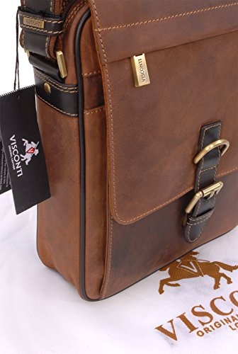 ... Borsa organiser in pelle Messenger Notebook ipad Visconti 16011 Olio  Marrone Chiaro ... 53565cf37db