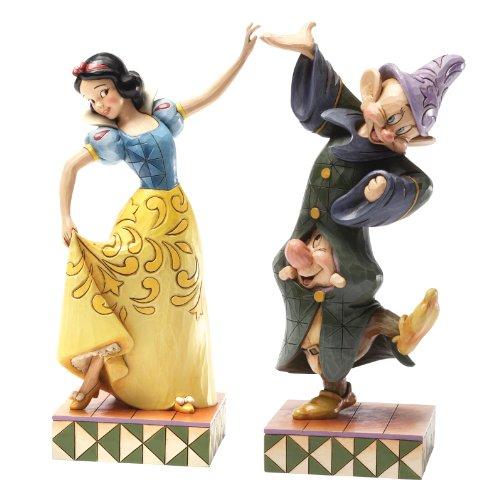Enesco Disney Traditions Figurine Bianca Neve Balla con i Nani, Pvc, Multicolore, 9x11x22 cm