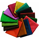 BVS eStorez Cotton Silk Unstitched 80 cm Blouse Pieces (Multicolour, Free Size) - Pack of 10