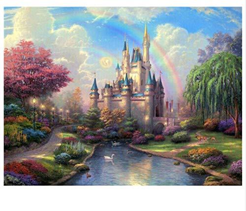 Cykejisd puzzle 1000 pezzi mestiere variopinto del castello di fiaba di sogno di diy 3d puzzle classico 3d puzzle fai da te kit giocattolo di legno home decor