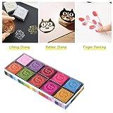 Ultnice d'empreintes digitales Multicolore Tampon encreur Tampon encreur de pour enfants DIY, Lot de 20