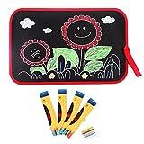 Zeichentafel Skizzenblock Schwarz Tafel Malen Lerntafel Tragbar Lernmittel Kindergarten mit Handtuch und Kreide Kinder Junge Mädchen