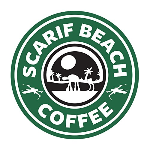 Star Wars Rogue One Scarif Beach Coffee Starbucks Logo Women's Sweatshirt white