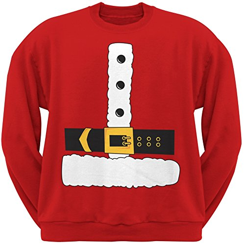 Santa Claus Kostüm Crew Neck Sweatshirt-2X-groß (Tee Youth Crew)