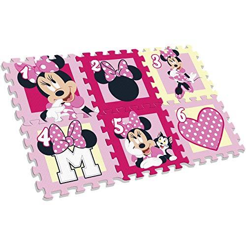 Disney Minnie - Alfombra Puzle Eva con 6 Piezas