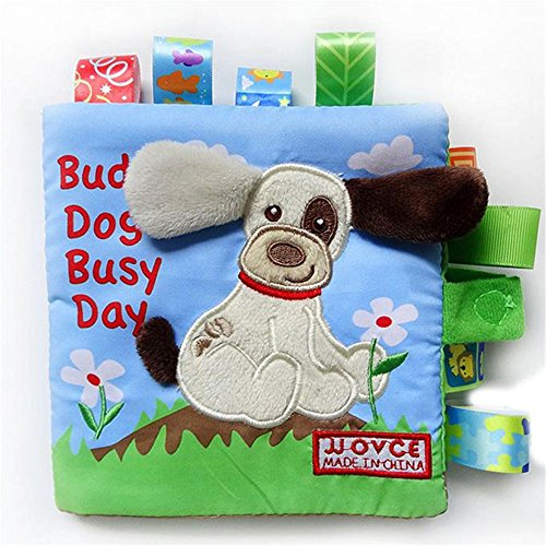 Panno libro, Zolimx Baby Toy Animal Dog intelligence puzzle Cognition panno sviluppo libri