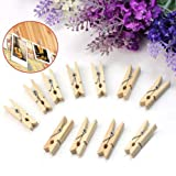 DIY Crafts Mini Natural Wooden Clothe Photo Paper 40X Clothespin Craft Clip Hot