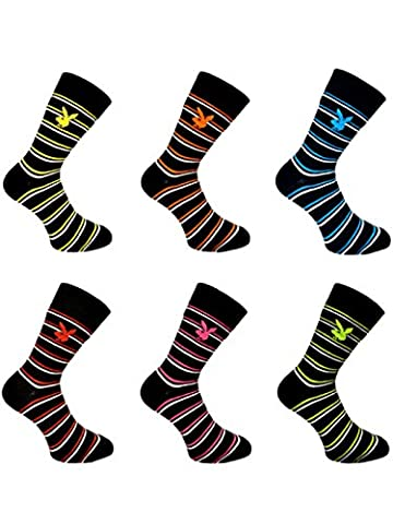 HDUK Mens Socks - Chaussettes basses - Homme multicolore rayé 39-45