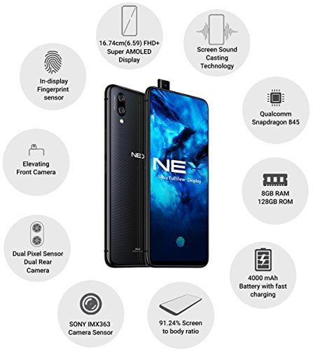 Vivo NEX (Ultra FullView Display, 8GBRAM + 128GB Memory) - Black