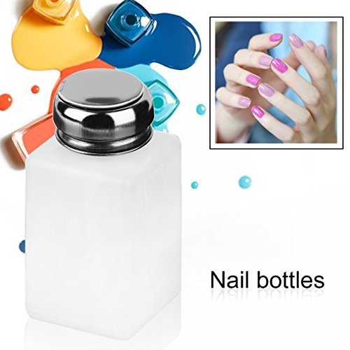 Nail Polish Remover-marken (Swiftswan 200ML Liquid Alcohol Press Nail Polish Remover Dispenser Pumping Bottle)