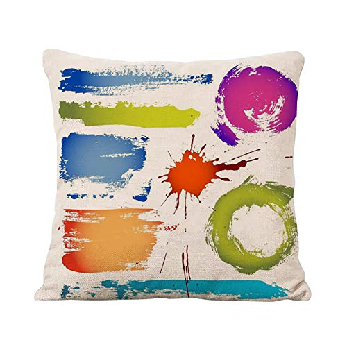 BIGBOBA. Fundas Almohada diseño Colorear Salpicaduras