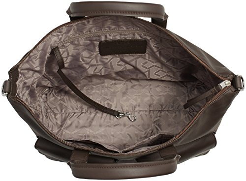 BREE Damen Toulouse 6 Schultertaschen, 44x30x12 cm Braun (dark brown 860)